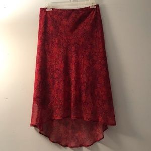 Vintage 90s 00s A.Byer chiffon high low skirt